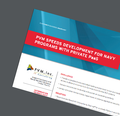PVM Speeds Development For Navy Programs with Private Pass