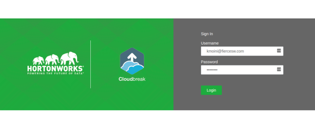 Hortonworks Cloudbreak Deployment Success